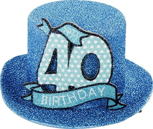 1 stuks. Verjaardag party hoed 40 jaar party decoratieve kaars