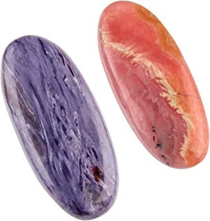 Jaguar Gems 2pcs 54+ cts Natural Multi Gemstones Pack, Jewelry Making Stones Supply, Loose Crystals, Natural Cabochons, Meditation-Reiki-Yoga Stones, Chakra Healing Crystals, Mix Stones Pack