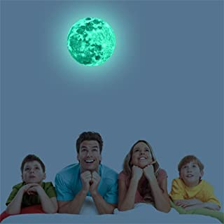 Clearance Sale!DEESEE(TM)🌸DIY Glow In The Dark Wall Sticker🌸Removable 5/12/20cm 3D Large Moon Fluorescent Wall Sticker Wallpaper Wall Stickers Party Desk Wall Home Decor (5CM)