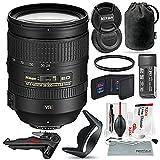 Nikon AF-S NIKKOR 28-300mm f/3.5-5.6G ED VR Lens and Bundle w/Xpix Camera Tripod, Cleaning Kit + UV Filter + More