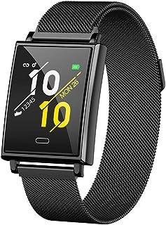 YZY Reloj Inteligente de la versión 2019, Pulsera Actividad con Monitor de frecuencia cardíaca y Monitor de sueño Rastreador de Actividad a Prueba de Agua con Reloj podómetro para Hombres Mujer