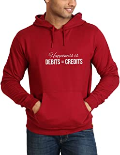 Campus Sutra Front Printed Designed Cotton Hoodie or Sweatshirts for Men
