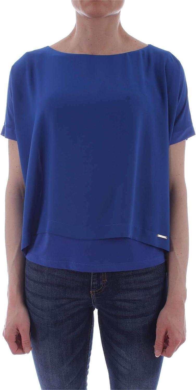 Carla Montanarini Women's 2663G6blueETTE bluee Polyester Blouse