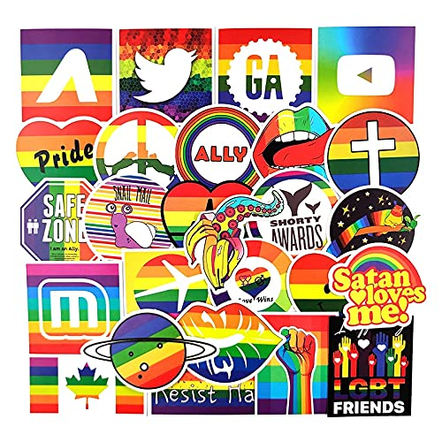 100PCS 10/30 / 50pcs / Paquete Moda Tendencia Rainbow Graffiti Pegatinas para refrigerador Casco de Coche DIY Regalo Guitarra de Bicicleta Patines para portátil, etc. estéticas