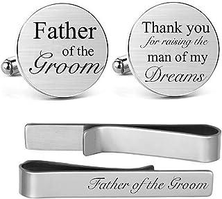 Custom groomsman  father of the bride  father of the groom  groom  cufflinks