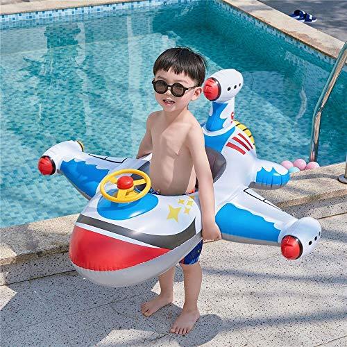 Fenshan223 Espesar el Anillo de natación del avión Creativo Inflable para niños del Asiento del Asiento del niño yate del bebé (Size : Blue Aircraft Seat)