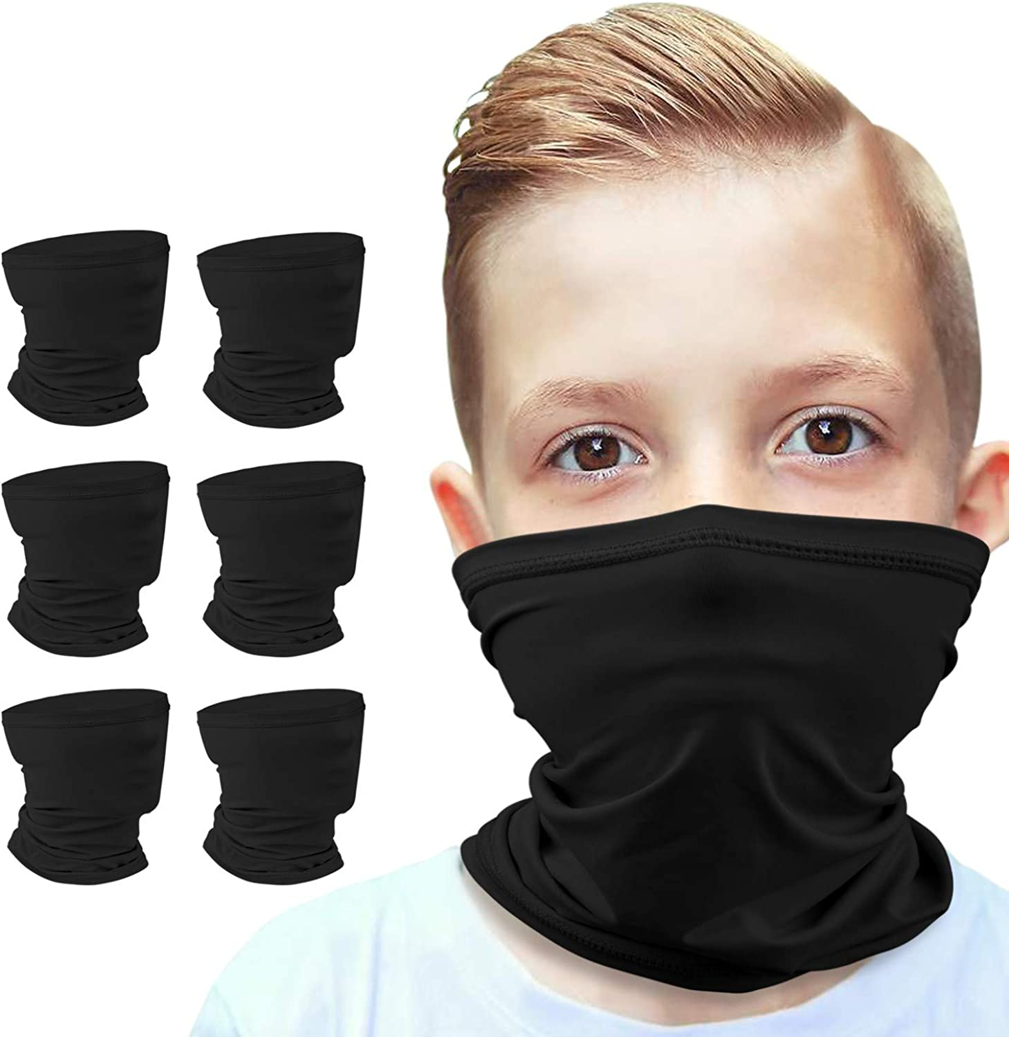 Anstronic 6-Pack 6-14 Years Kids Scarf Cooling Award-winning store Gaiter Br High order Neck