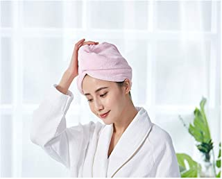 Shower Cap, Dry Hair Cap, Female Soft Absorbent and Quick-Drying Shower Cap, 1 Towel, Hooded Shower Cap, Pink, Yellow, Purple (Color : Pink)