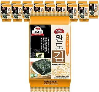 韓国エビ印評判の莞島海苔 韓国海苔 味付けのり BS-03 5g×18袋 お弁当用 おつまみ 焼き海苔