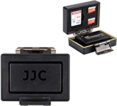 JJC Water-Resistant Camera Battery Case for Canon LP-E17 LPE17 EOS Rebel T7i T6s T6i SL2 77D 800D 760D 750D 200D M5 M6 M3 Camera Battery, with 2 SD +1 MSD Memory Card Slots