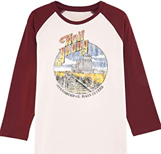 Neil Young T-Shirt - Neil Young Harvesters Tour 1985 Tee - 100% Organic - Officially Licensed