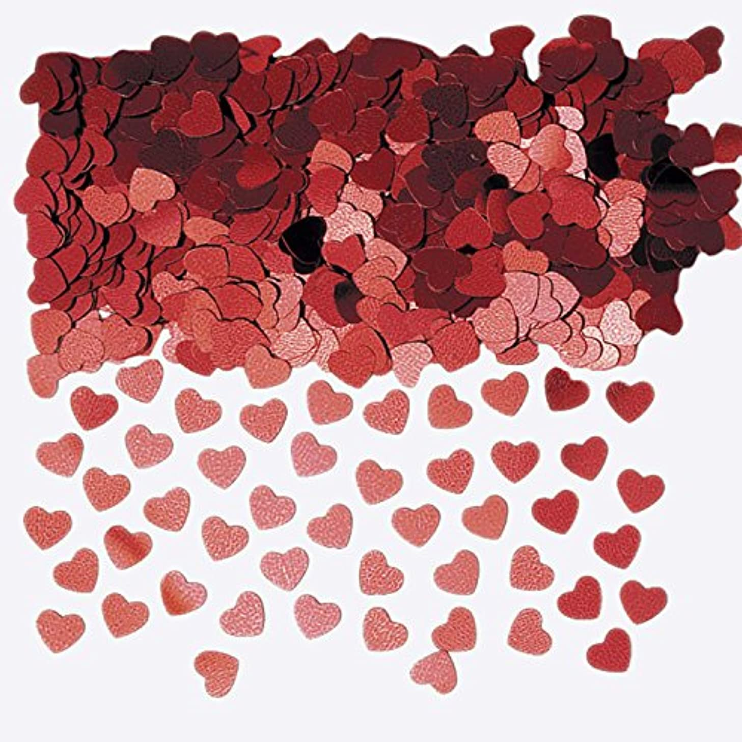 Sparkle Hearts Red Metallic Confetti 14g