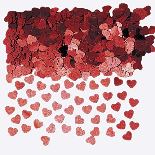 Amscan–990086014G Sparkle corazones metálico confeti