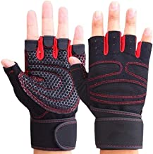 YYGIFT Breathable Non-Slip Gloves Durable Half-Finger Gloves for Weight Lifting Training Fitness Gym Workout Crossfit Sports