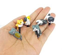 yueton Pack of 6 Cat Dust Plug Stopper Universal 3.5mm Anti Dust Earphone Jack Plug Cap for iPhone Samsung and Others Smartphone