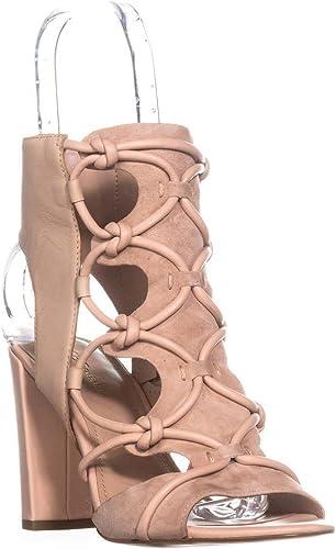 BCBGeneration femmes Fay Leather Open Toe Special, Special, Special, Shell Shell, Taille 7.0 8e0