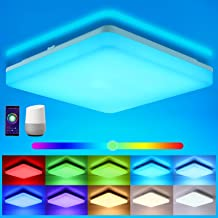 Oeegoo Wifi LED plafondlamp dimbaar, Smart LED plafondlamp RGB kleurverandering, 15W LED plafondlamp Alexa, Google Home co...