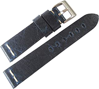ColaReb 20mm Roma Blue Leather Watch Strap