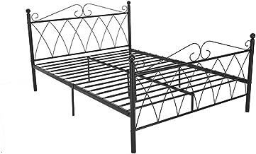 Bed Frame,Metal Double Bed Frame 4FT6 Double Bed Frame Solid Bedstead Base Platform with Headboard Footboard Slats Bedroom...