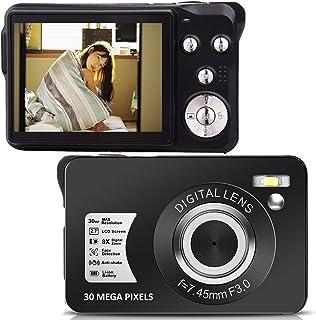 デジカメ デジタルカメラ HD 1080P 2400万画素 8Xズーム 2.4インチLCD コンパクト 連続ショット 携帯便利 SDカード128GB対応