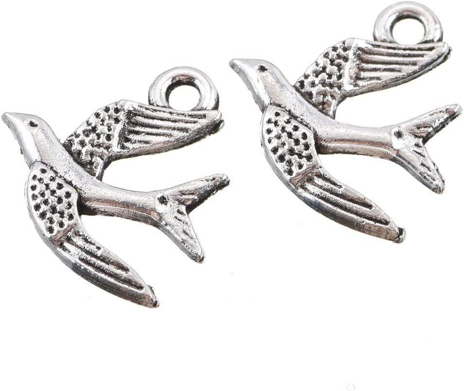50pcs antique silver color 30x18x10mm metal bird cage pendant charm handmade craft jewelry making DIY finding earring necklace drop AM575