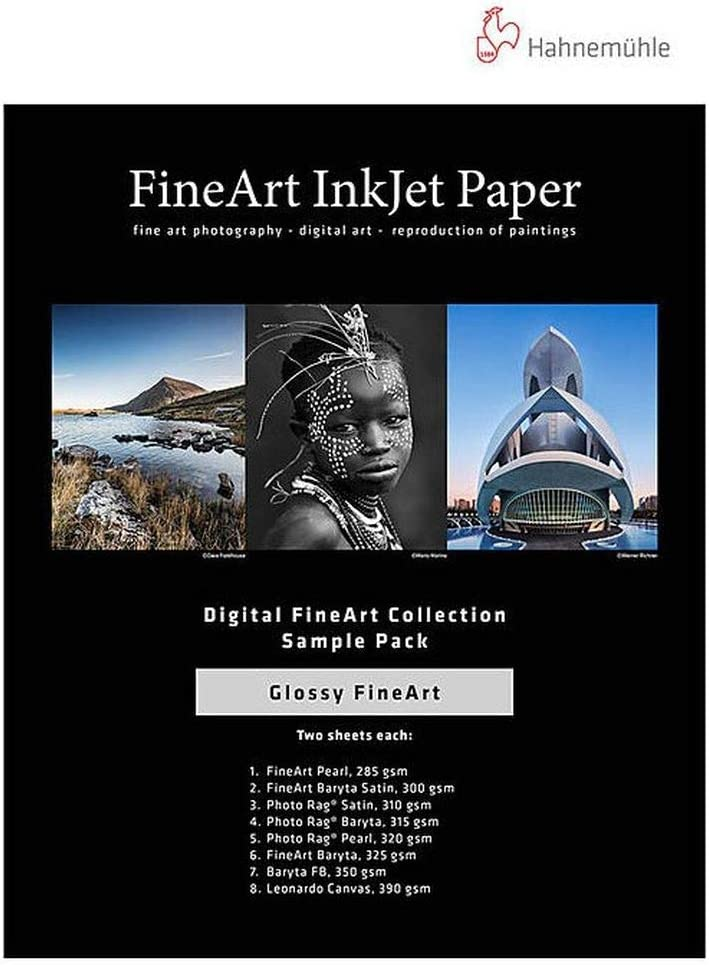 Hahnemuhle Glossy FineArt Inkjet Paper Sample Selling and selling 19 13 Trust inch x Pack