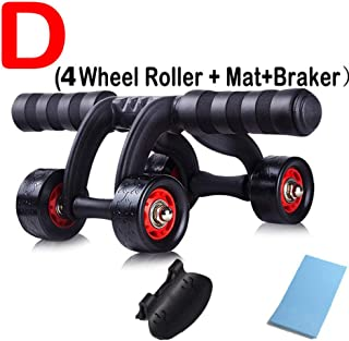 ZSDJ Abdominal Wheel RollersNoise Free with Mat for Exercise Fitness Equipment