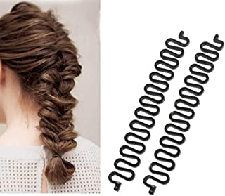 6 PCS Black Styling Braid Tool Fishbone Wave Braider Centipede Twist Hair Braiding Tools Fashionable Clip Stick Spiral Tool Accessories Hairdressing Kits