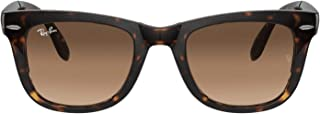 Ray-Ban Sunglasses Folding Wayfarer Liteforce Brown (Tortoise Frame/Brown B-15Xlt Lens), 50