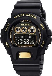 Orologi da uomo sportivo digitale - Achort 50 m impermeabile sport orologio con cronometro, corsa orologio da polso con re...