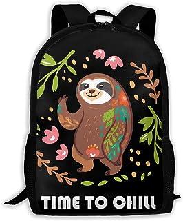BUGKHD Time to Chill Cute Sloth Bear Mochilas de viaje livianas mochilas para computadora portátil mochila bolsas de hombr...