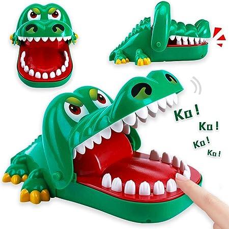XMLMRY 痛いワニ 特大 ワニワニパニックおもちゃ 口歯咬合 危機一発ゲーム 電池不要 忘年会・クリスマス・新年・パーティ玩具
