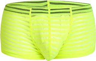 Kwelt Mens Underwear Mesh See Through Transparent Boxers Shorts Briefs Lingerie Brief Boxer