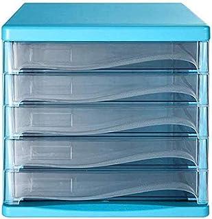 Armoires de bureau de la famille Décoration de bureau Boîte de rangement 5 tiroirs en plastique Organiseur de bureau Maiso...