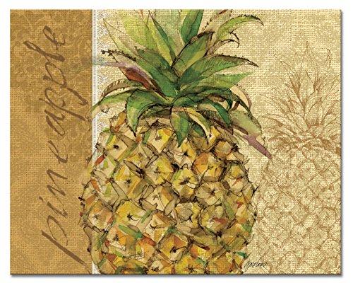 CounterArt Pineapple Glass Cutting Board, 15' x 12'
