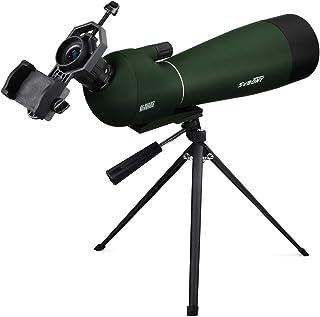 SVBONY SV28 Spotting Scope,Bird Watching Scope 20-60x80mm Waterproof Scope for Bird Watching Target Shooting Archery Hunti...