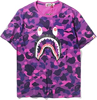 3f267c0d1 ZDFGHW434 Ape bape Shirts|BAPE Camouflage Shark Head Classic Cotton Short  Sleeve T Shirt Black