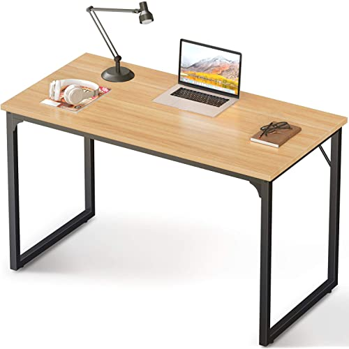 Coleshome Computer Desk 47 Modern Simple Style Desk For Home Office Sturdy Writing Desk Walnut Kitchen Dining