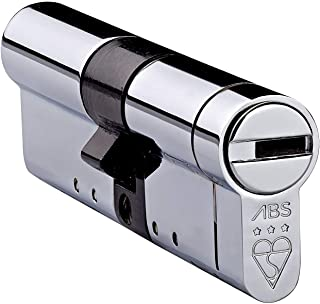 Avocet ABS High Security Euro Cylinder - Anti Snap Lock - TS007 3 Star (35(INT)x35(EXT), Chrome) by Avocet ABS