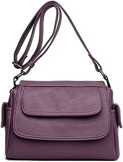 Women's Messenger Bag, Waterproof Messenger Bag PU Soft Leather Shoulder Bag Lady Handbag Messenger Bag