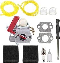 Dalom UP04742 Carburetor w Air Filter Carb Adjustment Tool for Homelite Trimmer K100 K200 K300 K400 ST155 ST2517CR ST2517CRG ST2527 ST2537S ST525 UT15177 UT20779 UT20747 Weedeater Tune Up Kit