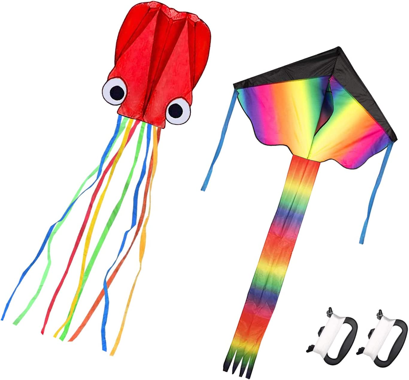 Homdipoo Rainbow Kite Mollusc Octopus 2Pack Easy SEAL limited product Fashion to Fly Kit