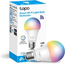 TP-Link Tapo Smart Bulb, WiFi Smart Switch, E27, 8.7W, No Hub Required, Compatible with Alexa (Echo and Echo Dot) and Goog...