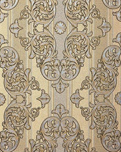 Barock-Tapete EDEM 580-31 Hochwertige geprägte Tapete in Textiloptik und Metallic Effekt...