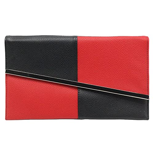 2018 sneakers top-rated newest exclusive deals Red and Black Clutch Bag: Amazon.co.uk