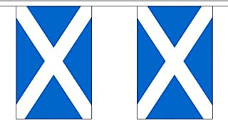 """Top Brand Giant 18.25 Metres 30 (18"""" X 12"""") Flag Scotland Scottish St Andrews Saltire 100% Polyester Material Bunting Ideal Party Decoration For Street House Pubs Clubs Schools St Andrews Day"""