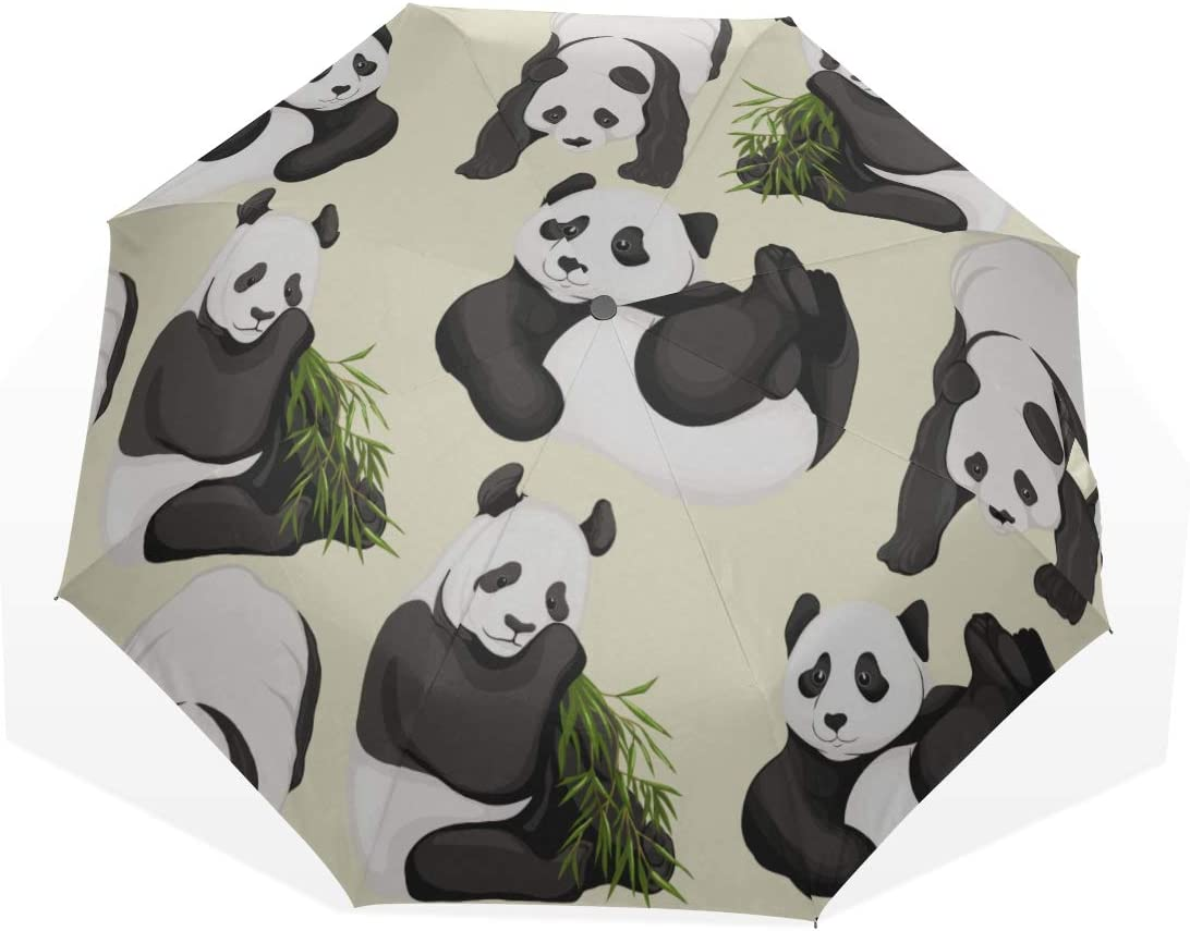 Child Rain Umbrella Giant Panda With Art Umb Special price for Limited Special Price a limited time 3 Green Bamboo Fold