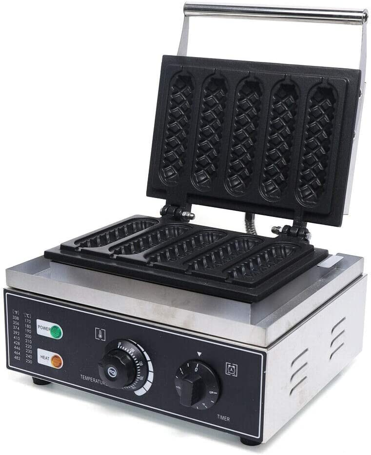 5 Grooves Commercial Waffle Maker Portland Mall Baker Dog Hot No Machine Fashion