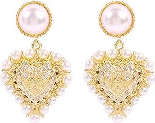 Pearl Earrings Love Temperament Alloy Stud Earrings Sweet Diamond Earrings