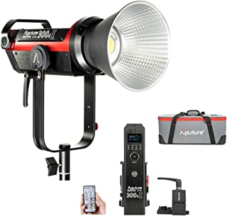 Aputure 300D Mark II C300d II Led Video Light V Mount CRI97+ TLCI97+ 55000lux@0.5M 5500k Sidus Link App Control 8 Lighting Effects Wireless Remote Control with Carrying Bag and Ginisfoto Cloth